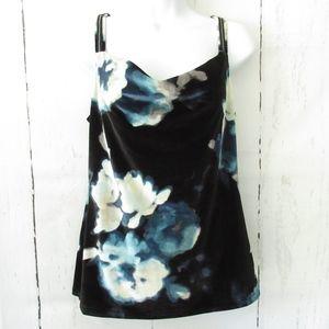 New White House Black Market Top Floral Velvet